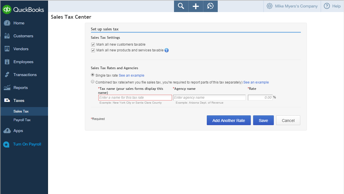 Setting Up Sales Tax In QuickBooks Online Help Center - Quickbooks online invoicing portal features